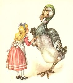 illustration by Libico Maraja - Alice and the Dodo from 'Alice's Adventures in Wonderland' (1957)
