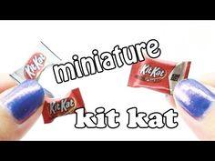 DIY - Miniature Kit Kat Chocolate Bar Tutorial - YouTube