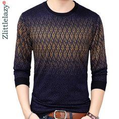 Camiseta para hombre suéter de manga larga Casual Hombre Ropa pulóver Nuevo