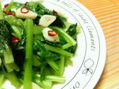 一番好き☆小松菜の食べ方♪にんにく塩炒めの画像