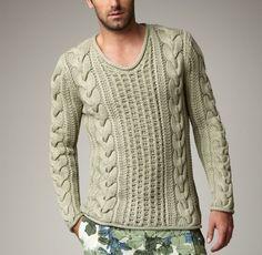 Suéter hombres de cuello redondo cuello en v suéter suéter