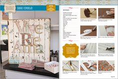 DECOUPAGE Nº 01 - 2016 Pintura Country, Decoupage, Ideas, Journals, Blue Prints, Coat Hooks, Manualidades, Business, To Sell