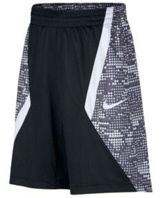 Nike Big Boys Printed Basketball Shorts - Black S Nike Basketball Shorts, Basketball Uniforms, Buy Basketball, Bass Fishing Shirts, Pajama Romper, Daytime Dresses, Plus Size Activewear, Kids Shorts, Dresses With Leggings