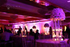 Grecian Center Southgate: Wedding Head Table Backdrop + Uplighting