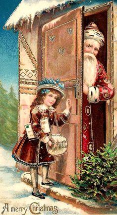 Beautiful vintage christmas card