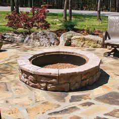 Natural Concrete Products Co Fossill Stone Fire Pit Kit & Reviews | Wayfair