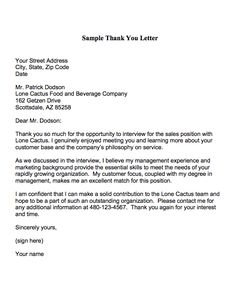 9 best interview thank you letter images on pinterest interview