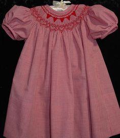 e41ee4492 Goredwashed3lrg Smocking Patterns, Smocking Plates, Baby Dress Patterns, Sewing  Patterns, Red Gingham