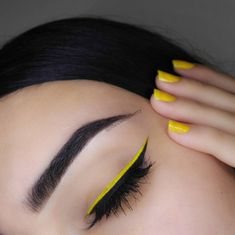 Hello my pumpkins, I couldn't help but notice how trendy yellow eye makeup looks were this summer. I've seen endless of creative makeup looks using bright yellow eyeshadow [or in some cases, eyeliner]; Glam Makeup, Makeup Inspo, Eyeshadow Makeup, Beauty Makeup, Hair Makeup, Neon Eyeshadow, Sparkly Eyeshadow, Nail Inspo, Makeup Eye Looks
