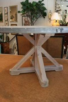 Round Zinc Top Dining Table - Mecox Gardens