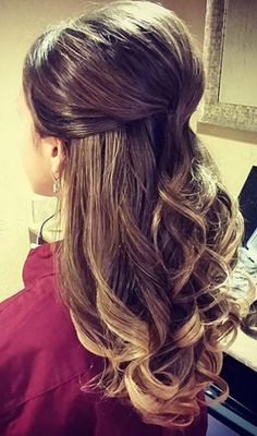 Easy half updos for long fine hair elegant top 30 hairstyles to cover up thin hair Wedding Hairstyles Thin Hair, Thin Hair Updo, Curled Hairstyles, Prom Hairstyles, Thick Hair, Updo Curls, Hair Wedding, Hairstyle Ideas, Layered Hairstyle
