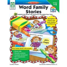 Word Family Stories, Grades 1 - 2: 31 Delightful Mini-Books with Humorous, Decodable Story Texts  Facilitate a love of language in students in grades 1–2 using Word Family Stories! This 64-page book improves phonics skills, phonological awareness, fluency, vocabulary, and comprehension with 31 fun, easy-to-decode word family stories. This classroom resource increases confidence in and enjoyment of reading. It supports NCTE and NAEYC standards.