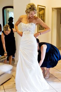 Melanie Ford Silk Wedding Dress | Still White Australia -- LOVE the skirt & lace boddess.