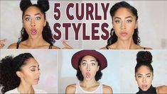 FIVE CURLY HAIRSTYLES IN 5 MINUTES