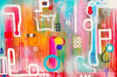 Shop original art created by thousands of emerging artists from around the world. Buy original art worry free with our 7 day money back guarantee. Beautiful Artwork, Original Paintings, Abstract Art, Things To Come, Neon Signs, Shapes, Canvas, Figurative, Artist