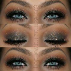 make up guide Elegant Glitter Smokey Eye Makeup That Makes Her Blue Eyes POP ~ Stunning! ♡♥♡♥♡♥ make up glitter;make up brushes guide;make up samples; make up brushes guide Blue Eyes Make Up, Blue Eyes Pop, Eye Make Up, Aqua Eyes, Eye Makeup Tips, Eyeshadow Makeup, Beauty Makeup, Makeup Ideas, Makeup Tutorials