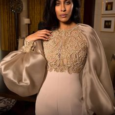 A true show stopper! Exquisite details on the sleeves of our #SS18 haute couture jumpsuit. Made using the finest hand embroidery techniques ⭐️✨ Make-up: @najlakaddour Hair: @laloge_uae Location: @rafflesdubai Photography: @mirjanakphotography  #RamiAlAli #HauteCouture