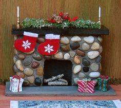 Miniature Dollhouse Furniture Fireplace