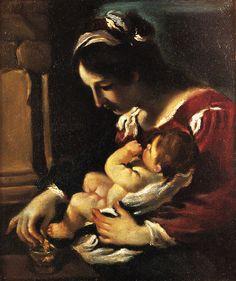Guercino, Madonna della Pappa  (Stoccolma)