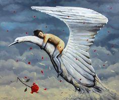 """Dreams have their own reality"" oil on canvas 150x180 cm. Avihai cohen Art אביחי כהן"