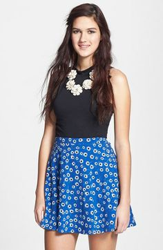 Lily White Skater Skirt (Juniors) available at #Nordstrom