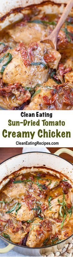 This creamy Clean Eating chicken has such a good, deep flavor. I've made it tons of times and my whole family loves it.