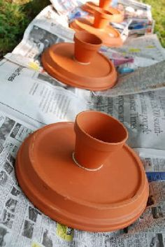make cake stands from terra cotta pots and saucers