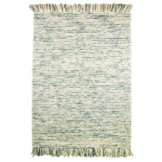 Woven from pure wool, this fringed rug adds a touch of texture to your floors. Arrange in the living room to anchor your coffee table or beside your bed for .