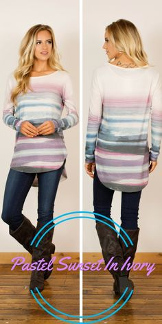 7cd50041b02ef1 This soft and light long-sleeve tunic is perfect to pair with your favorite  fall