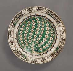 Islamic Plate, Turkish, Ottoman Dynasty 1550/1600 Detroit Institute of Arts