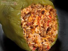 Flourless Fajita Stuffed Pepper - Light version of the classic fajita