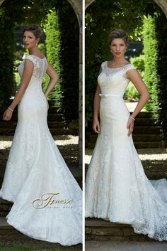 Light Fitted Dress with a Flare by Finesse Bridal Wear in Listowel, Co Kerry #FitandFlare #FittedWeddingDress