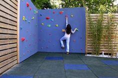 Build your own backyard rock climbing wall and other great DIY backyard ideas