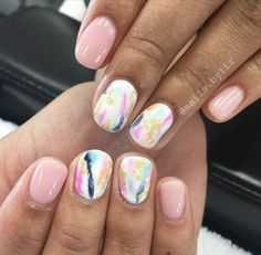 Abstract nails Painting Moving Decor and Organization Summer Acrylic Nails, Summer Nails, Cute Nails, Pretty Nails, Hair And Nails, My Nails, Work Nails, Manicure And Pedicure, Beach Pedicure