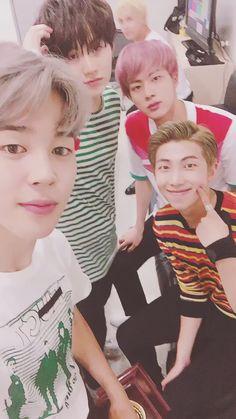 JiMin, Suga, RapMonster & Jin [Twitter Update]