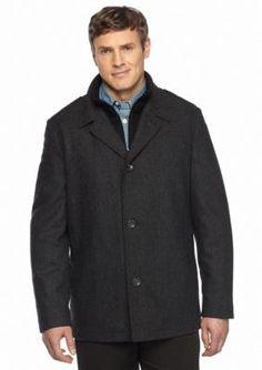 Nautica  Wool Herringbone Button Front Coat