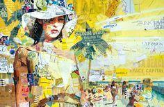 Derek Gores subjects are simply figures and objects in a space. In his collage portraits, Derek Gores recycles magazines, labels, data, and assorted found Collage Portrait, Collage Art, Portraits, Derek Gores, Recycled Magazines, Collage Making, Sculpture, Art Festival, Magazine Art