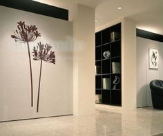 Vinyl wall decals wall stickers flower decals home decors-lover flower Agapanthus. $32.00, via Etsy.