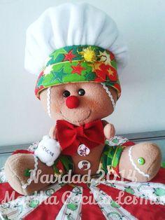galleta panadero Christmas Gingerbread, Christmas Candy, Christmas Decorations, Holiday Decor, Kitchen Art, Craft Kits, Doll Patterns, Felt Crafts, Teddy Bear