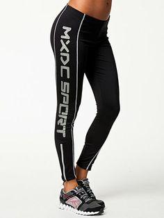 Reflective Logo Tights - Mxdc Sport - Svart - Tights - Sportkläder - Kvinna - Nelly.com