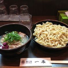 """"""" #Tsuke-Men """"  Currently famous style of """" Ramen """" in Japan.It seems mix of """" Soba """", """" Ramen """". Big difference, as you could see, is that """" Noodle """" and """" Soup """" is completely separated. You dip the noodle into the soup, then bring it into your mouth. Another fun is, after finishing the noodle, you could order """" Wari-Yu """" which is used for adding the hot water into the rest of the soup to drink it up, why do it, because, basically the soup of """" Tsuke-Men """" is stronger than """" #Ramen """"."""