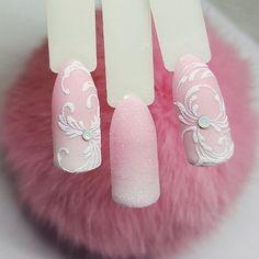 Ногтеманияк | Маникюр, ногти, идеи дизайна Manicure Nail Designs, Nail Manicure, Nails Design, Diy Nails, Winter Nails, Christmas Nails, Wedding Nails, Pretty Nails, Hair Makeup