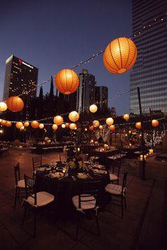 decoracion de fiestas al aire libre de noche - Buscar con Google