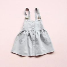 Denim Overalls Dress (more colors) Denim Overall Dress, Overall Shorts, Cute Dresses, Girls Dresses, Denim Overalls, Girl Model, Sleeve Styles, Kids Fashion, Casual