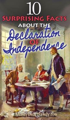 10 Declaration of Independence Facts. The Declaration of Independence in the United States is one American History Lessons, Us History, Ancient History, History Timeline, Declaration Of Independence Facts, 10 Interesting Facts, 5th Grade Social Studies, Teaching History, History Classroom