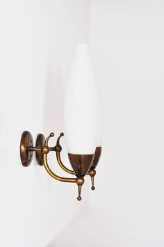 Pair applique STILNOVO ARREDOLUCE Wall Lamp 1950s glass brass Vintage sconces di LittleOld su Etsy