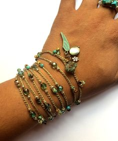 Crochet boho wrap bracelet / necklace angel