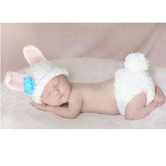Baby Girl Flower Rabbit Bunny Crochet Knit Beanie Hat Diaper Short Costume 0-24M #Handmade #Dressy