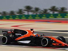 Fernando Alonso of Spain driving the (14) McLaren Honda Formula 1 Team McLaren MCL32 on track during practice for the Bahrain Formula One Grand Prix at Bahrain International Circuit on April 14, 2017 in Bahrain, Bahrain.