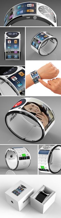 Concept iWatch - this would solve the problem I have with my phone not fitting in my pockets. Haha!